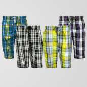 Bundle of 4 Casual Cotton Shorts (Assorted Designs)