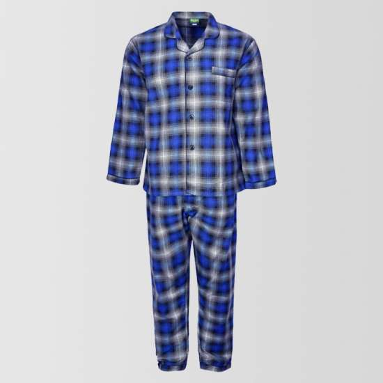 Cotton Checkered Sleeping Suit