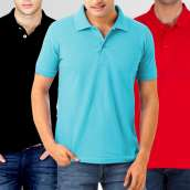 Bundle of 3 Plain Polo High Quality T-Shirts (11 Colors)