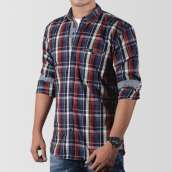 Multicolour Checkered Woven Shirt For Men
