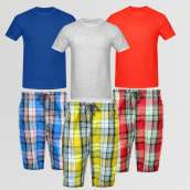 Bundle Of 3 Casual Shorts & 3 Round Neck T-Shirts