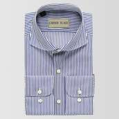 Light Blue Bar Stripe Shirt
