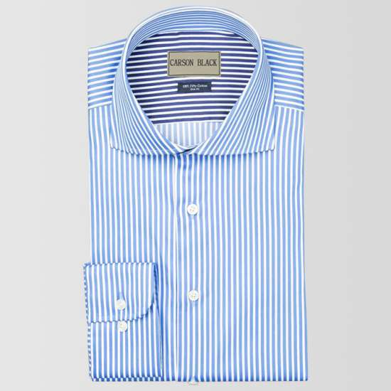 Blue Bar Stripe Shirt
