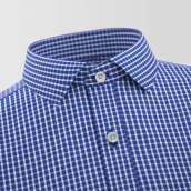 Melfort Blue Checked Formal Shirt