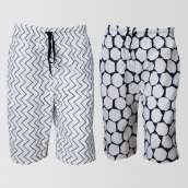 Bundle OF 2 Casual Cotton Shorts (CS-111) (Assorted Designs)
