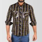 Yarn Dyed Cotton Casual Shirt