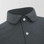 Black Polkadot Formal Shirt