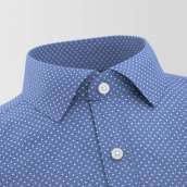 Navy Blue Polka Formal Shirt