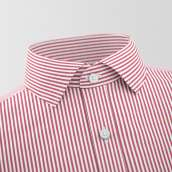 Red & White Lining Formal Shirt