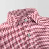 Red Small Checked Formal Shirt