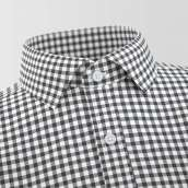 Nyon Gray Checked Formal Shirt