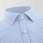 Abrantes Blue Checked Formal Shirt