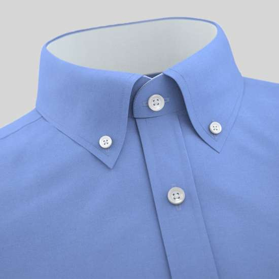 Sky Blue Formal Shirt With White Contrast