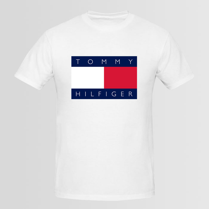tommy hilfiger big logo t shirt