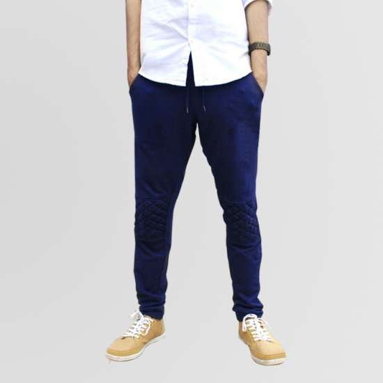 Blue Stylish Sweat Trouser