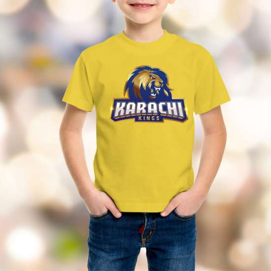 Karachi King Kids Yellow T-Shirt