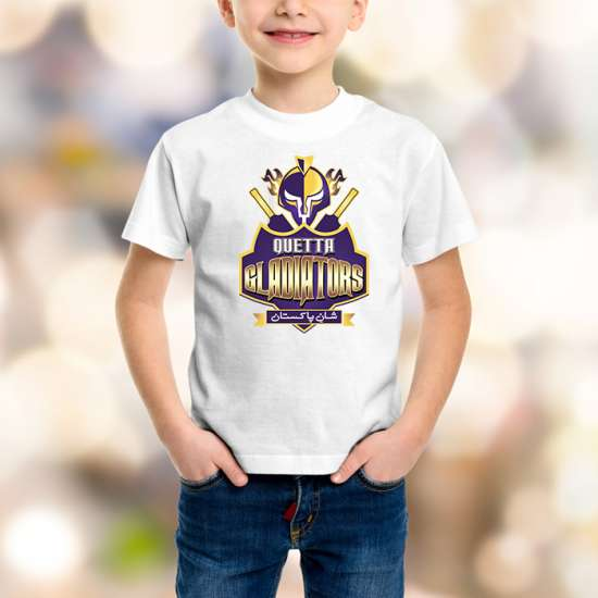 Quetta Gladiators Kids White T-Shirt