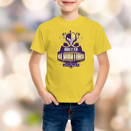 Quetta Gladiators Kids Yellow T-Shirt
