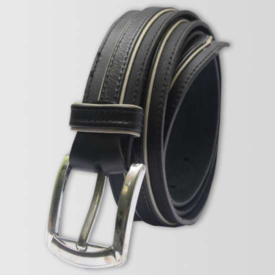 Black 3 Peice Leather Belt