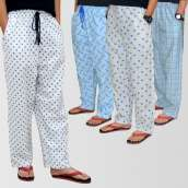 Bundle Of 4 Casual Cotton Pajamas (Assorted Designs)