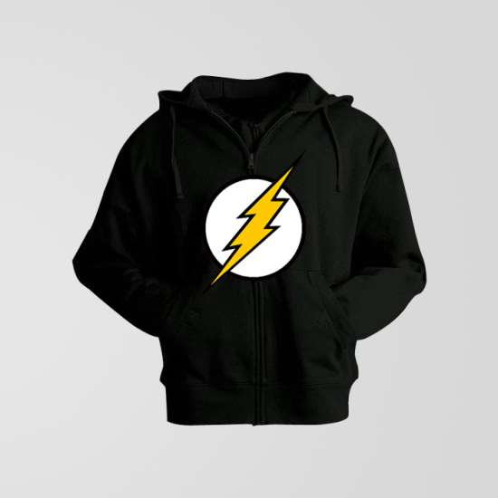 Black Fleece Flash Zipper Hoodie
