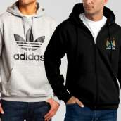 Bundle of 2 Hoodies: Grey Adidas + Black Manchester City