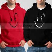 Bundle of 2 Hoodies: Red Naughty Smile + Black Naughty Smile