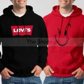 Bundle of 2 Hoodies: Black Levis + Red Naughty Smile