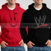 Bundle of 2 Hoodies: Red Naughty Smile + Black WWE