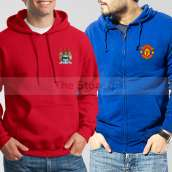 Soccer Hoodies Bundle of Two : Red Manchester City + Blue Manchester United