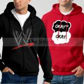 Bundle of 2 Hoodies: Black WWE + Red Okay Okay