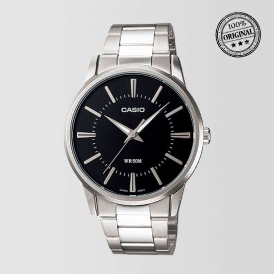 Black Dial Silver Bracelet Mens Watch