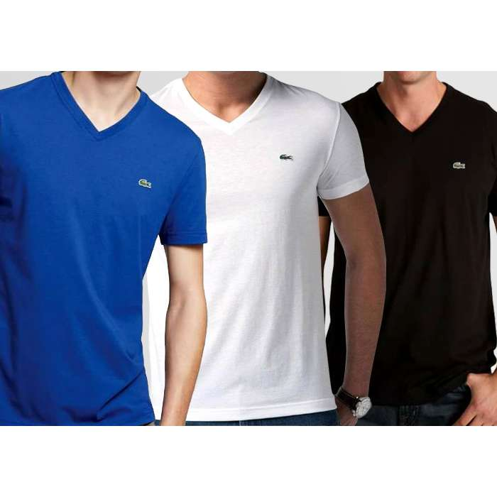 8152854db7c Bundle of 3 V-Neck Lacoste T-Shirts - Thestore.pk