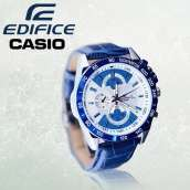 Edifice Casio Leather Strap Watch