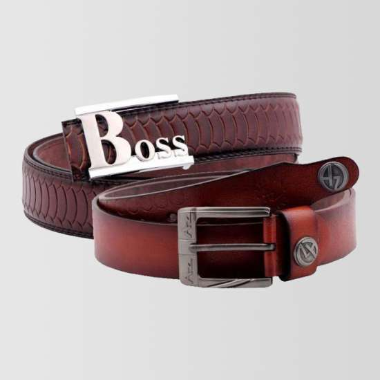 Bundle of 2 Boss & AZ Branded Belts