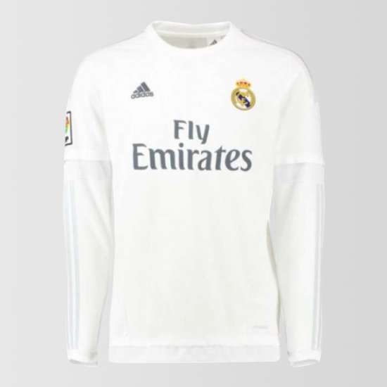 Real Madrid 2015/16 Home Long Sleeve Shirt