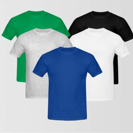 Bundle Of 5 Round Neck T-Shirt