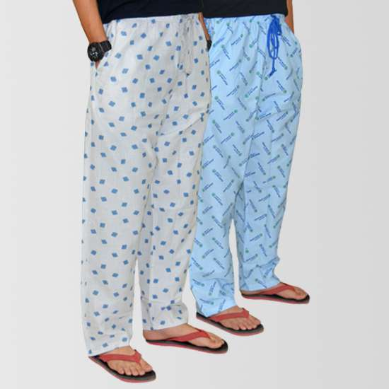 Bundle Of 2 Casual Cotton Pajamas (Assorted Designs)
