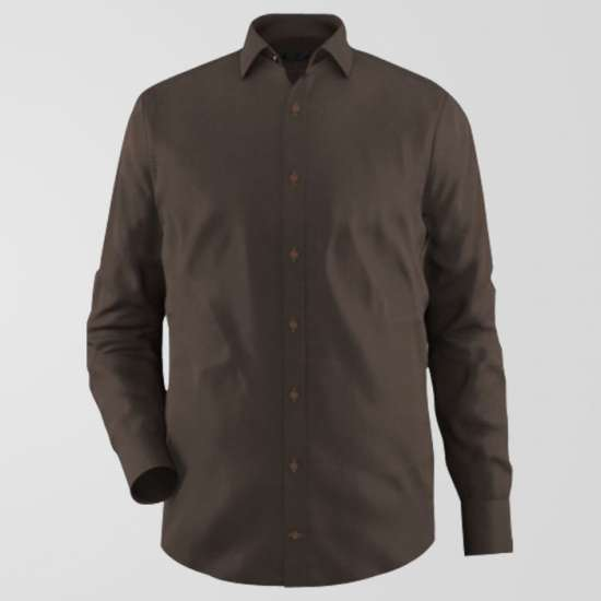 Basic Brown Formal Shirt