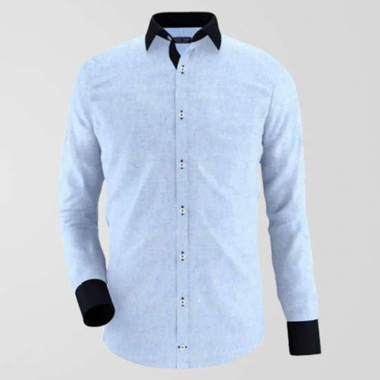 Chambrey Sky Formal Shirt