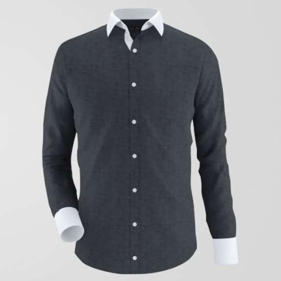 Chambrey Grey Formal Shirt