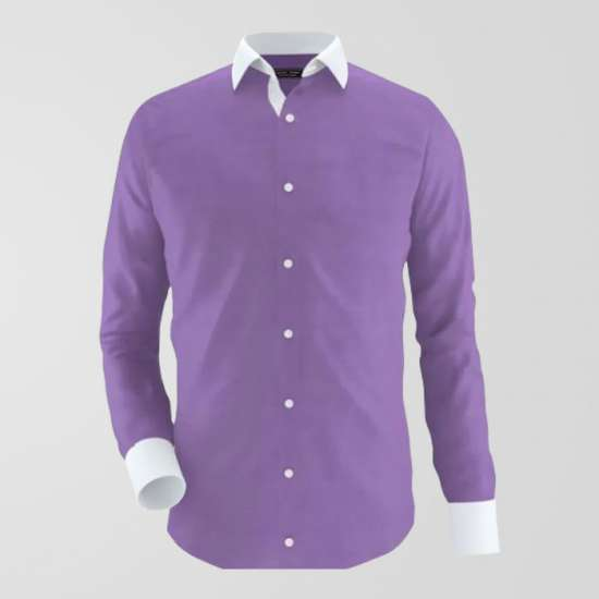 Oxford Purple Formal Shirt