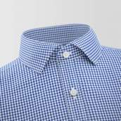 Blue & White Checkered Formal Shirt