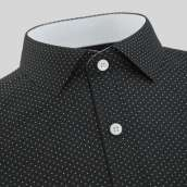 Black Polka dot With Two Pocket Formal Shirt