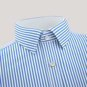 Blue Lining Formal Shirt With Contrast