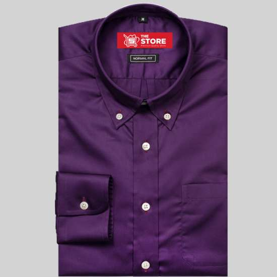 Luke Dark Purple Formal Shirt