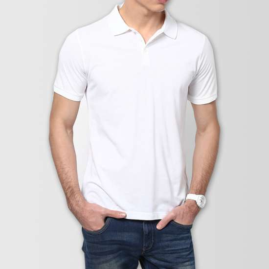 White Plain Polo T-Shirt
