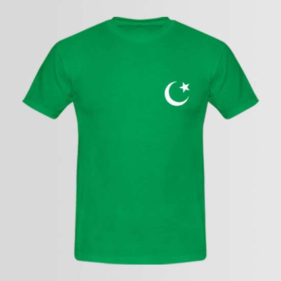Pakistani Flag T-shirt with Small Crescent