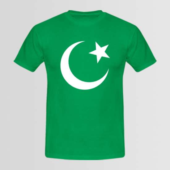 Pakistani Flag T-Shirt for Men & Boys with big Crescent