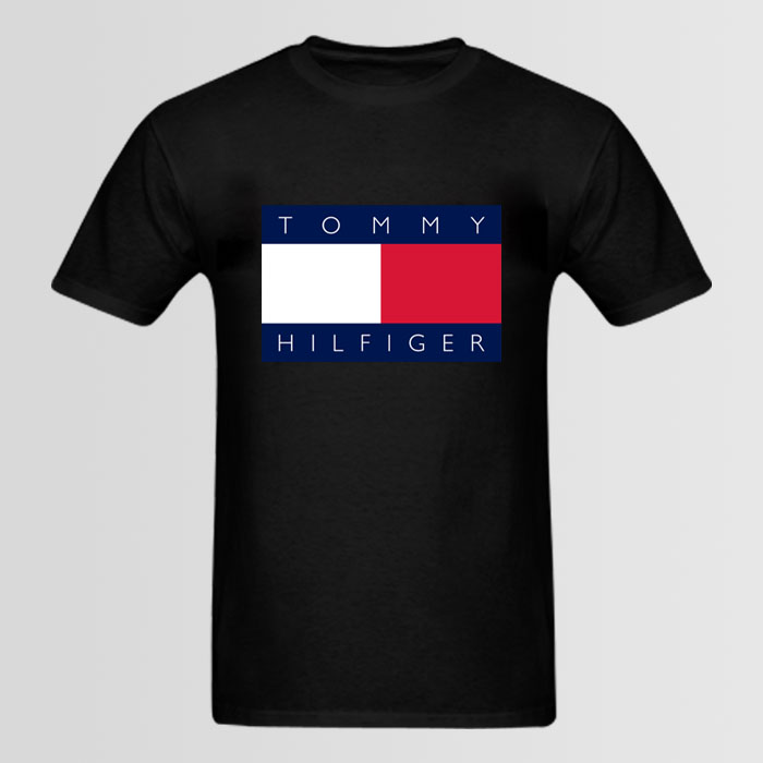 tommy hilfiger big logo t shirt. Black Bedroom Furniture Sets. Home Design Ideas